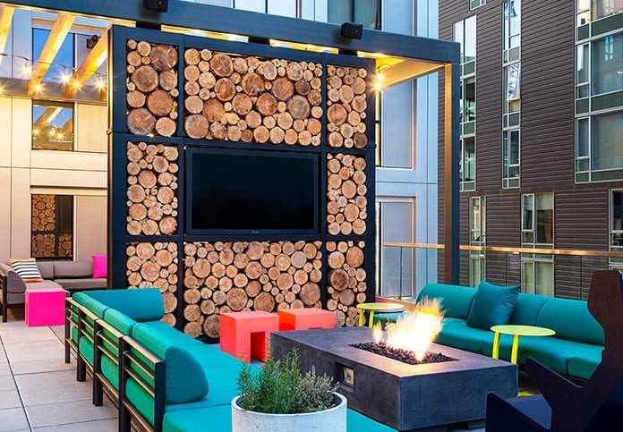 Outdoor seating around a firepit